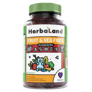 Herbaland Gummies for Kids Fruit & Veg Fiber
