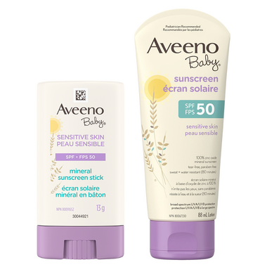 Aveeno SPF 50 Baby Sensitive Skin Sunscreen Bundle