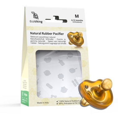 EcoViking Natural Rubber Pacifier Orthodontic Medium