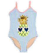 Shade Critters One Piece Swimsuit Flip Sequin Pineapple
