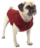 Canada Pooch Northern Knit Sweater in Maroon Size 16