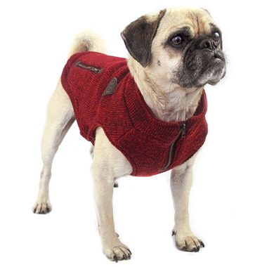 Canada Pooch Northern Knit Sweater in Maroon Size 20