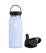 Hydro Flask Wide Mouth Bottle & Straw Lid Fog Bundle