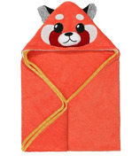 ZOOCCHINI Baby Snow Terry Hooded Bath Towel Remi the Red Panda