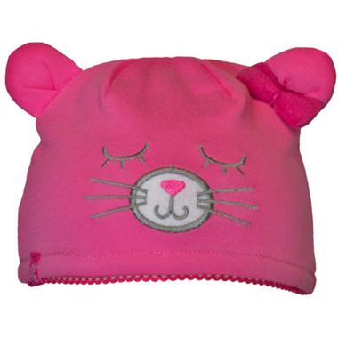 Calikids Cat Ear Hat Carmine Rose