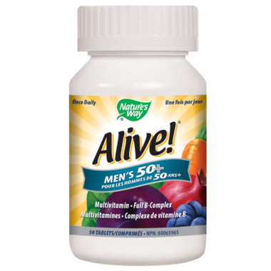 Nature\'s Way Alive! Men\'s 50+ MultiVitamin & Full B Complex