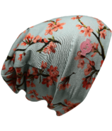 L&P Apparel Cotton Slouchy Beanie Nanaimo Flower