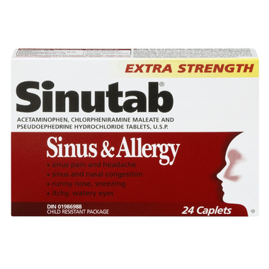 Buy Sinutab Sinus Amp Allergy Extra Strength At Well Ca