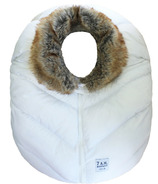 7 A.M. Enfant Cocoon White Faux Fur Collar