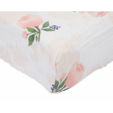 Little Unicorn Cotton Muslin Changing Pad Cover Watercolour Rose