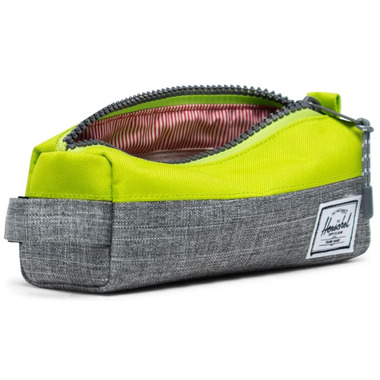 Herschel Supply Settlement Case Raven Crosshatch & Lime Green