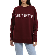 BRUNETTE The Label BRUNETTE Classic Crew Burgundy