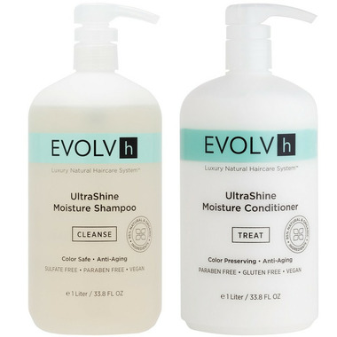 EVOLVh Ultrashine Shampoo & Conditioner Liter Duo