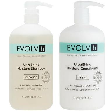 EVOLVh Ultrashine Shampoo & Conditioner Liter Duo