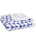 aden + anais Bamboo Silky Soft Dream Blanket Indigo Shibori