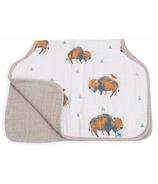 Little Unicorn Cotton Muslin Burp Cloth Bison