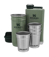Stanley Pre Party Shotglass + Flask Set Hammertone Green