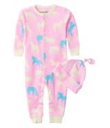 Hatley Horse Silhouettes Baby Coverall & Hat