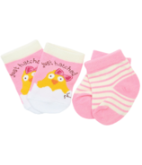 Hatley Pink Just Hatched Baby Socks