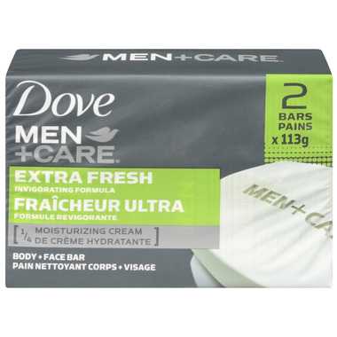 Dove Men +Care Extra Fresh Invigorating Formula Body + Face Bar