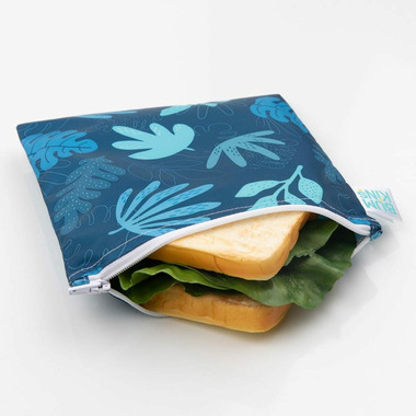 Bumkins Reusable Snack Bag Large Blue Tropics