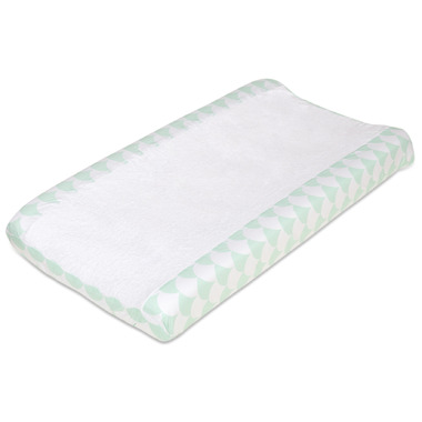 Lolli Living Change Pad Cover Kayden Sea Glass Green Scallop