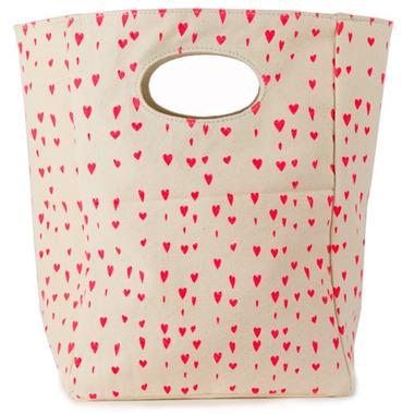 Fluf Hearts Organic Lunch Bag