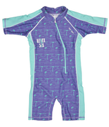 Level Six Aurora Girl's SPF 50 Sunsuit Paisley Purple