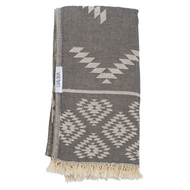 Lualoha Turkish Towel Luxury Tribe Charcol