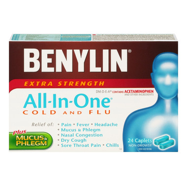 Benylin All-In-One Extra Strength Cold & Flu Daytime Caplets