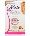 Nair Brazilian Spa Clay Perfect Temp Easy to Use Wax Strips