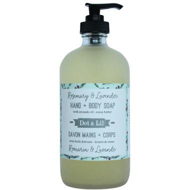Dot & Lil Rosemary & Lavender Liquid Hand & Body Soap