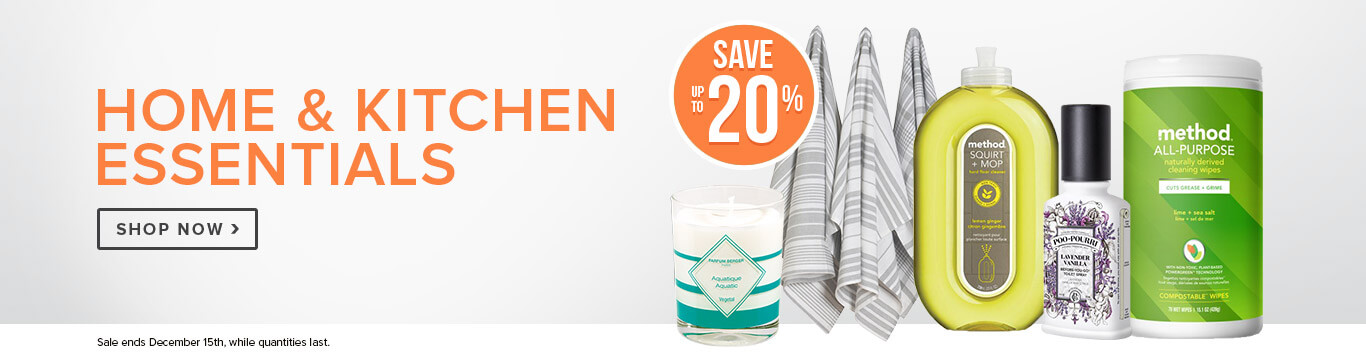 Save up to 20% On Home & Kitchen Essentials