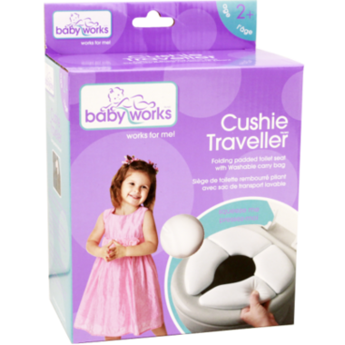 Baby Works Cushie Traveler Folding Padded Toilet Seat