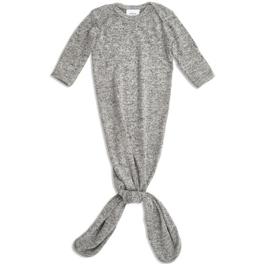aden + anais Snuggle Knit Knotted Gown Heather Grey 0-3 Months