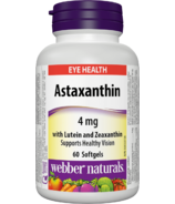 Webber Naturals Astaxanthin 4 mg with Lutein and Zeaxanthin