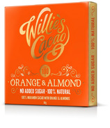 Willies Cacao 100% Orange & Almond Chocolate Bar