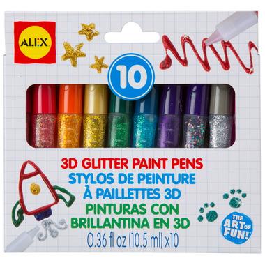 Alex 3D Glitter Paint Pens