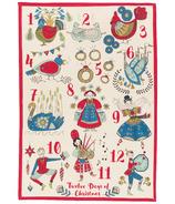 Now Designs Tea Towel Twelve Days of Christmas