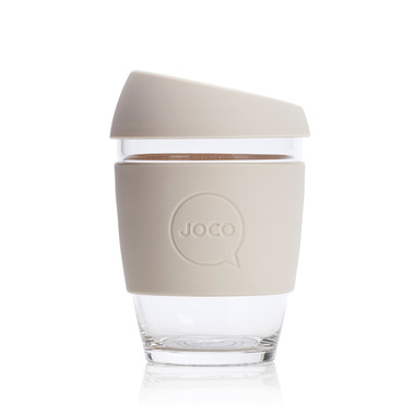 JOCO Reusable Glass Cup Sandstone