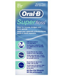 Oral-B Super Floss Pre-Cut Strands Dental Floss Mint