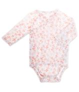 aden + anais Long Sleeve Kimono Body Suit Blossom