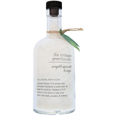The Cottage Greenhouse Sungold Apricot & Sage Relaxing Bath Soak