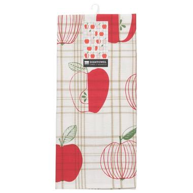 Now Designs Tea Towel Apple Check