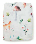 Loulou Lollipop Muslin Crib Sheet Woodland Gnome