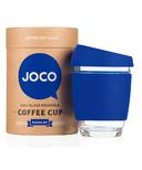 JOCO Glass Reusable Coffee Cup in Cobalt Blue
