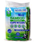 NatureZway Bamboo Hot Cups + Lids