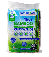NatureZway Bamboo Hot Cups + Lids