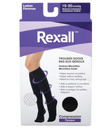 Rexall Ladies Fashion Microfiber Compression Trouser Socks