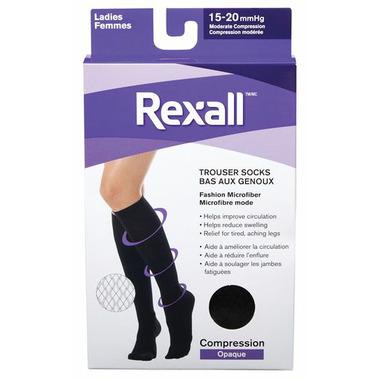 Rexall Ladies Fashion Microfiber Compression Trouser Socks